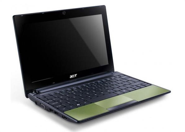 Acer Aspire One 522 в открытом состоянии