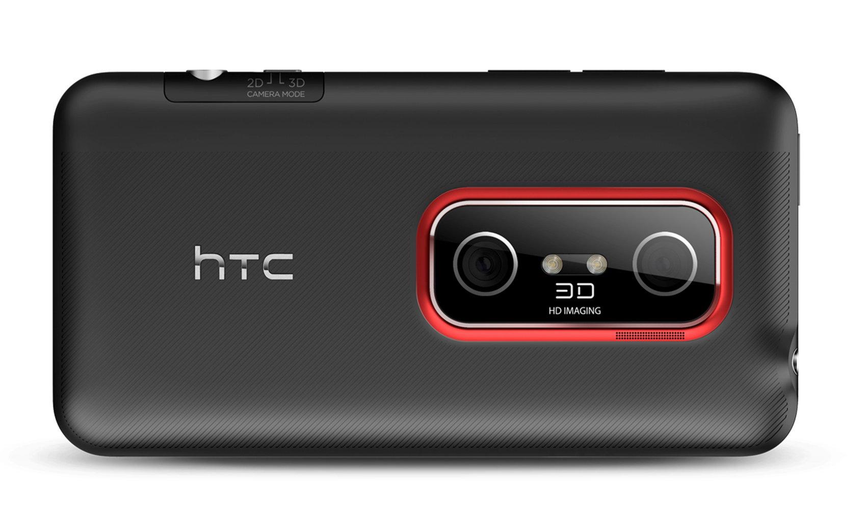 Смартфон HTC EVO 3D: вид задней панели и 3D-камеры