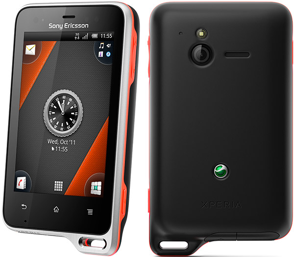 Sony Ericsson Xperia active (внешний вид)