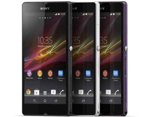 Sony Xperia Z будет доступен в корпусах трех цветов